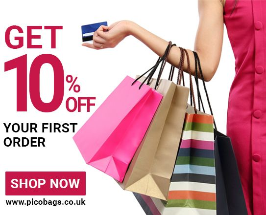 Get 10% off on first #order of #carrier #bags from Pico Bags. Get at very cheap rates.