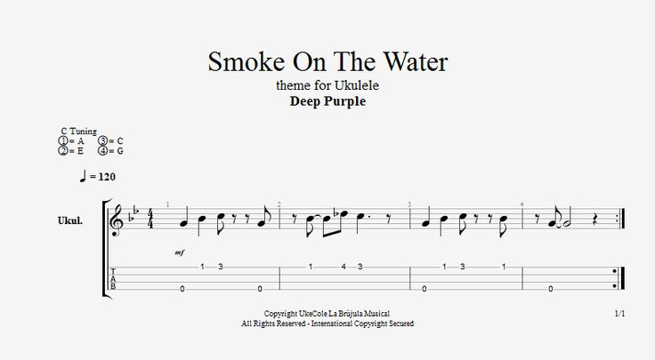 how to play smoke on the water on guitar tabs
