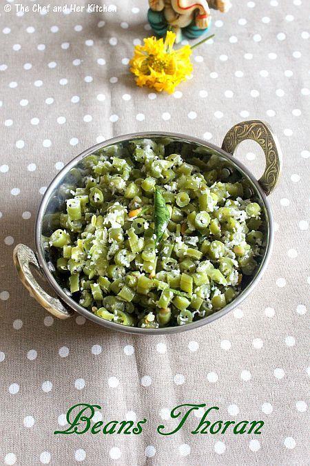 Beans Stir fry | Beans Poriyal | Beans Kobbari Kura - ONAM Sadya Recipes