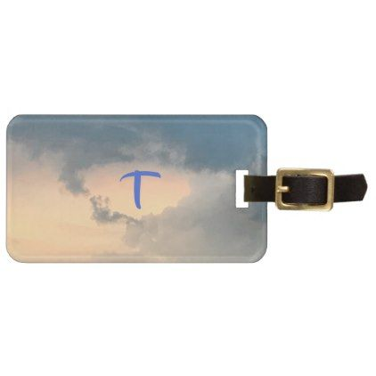 Sky Clouds Sunlight Monogram Luggage Tags - photos gifts image diy customize gift idea