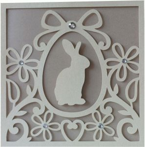 Silhouette Design Store - View Design #75800: 5x5 bunny flourish card