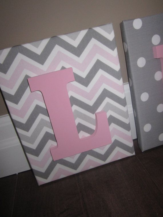 Wall Canvas Letters Nursery Decor Nursery Letters by NurseryShoppe, $14.99