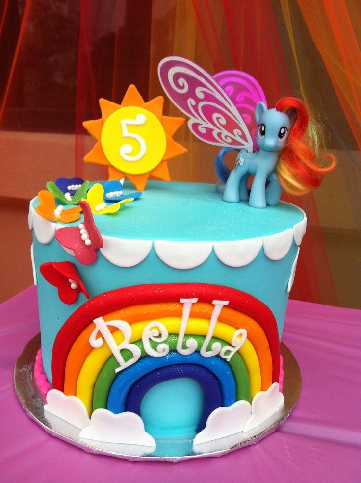 rainbow dash birthday cake | Incredible Rainbow Dash Birthday Cake for Bella's birthday. Made by ...