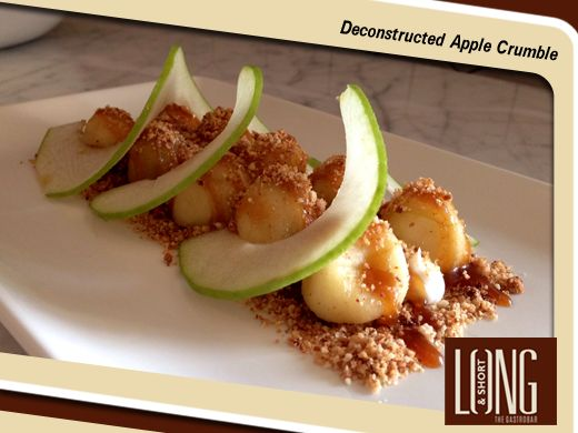 Indulge in the sensational Deconstructed Apple Crumble at Long & Short!