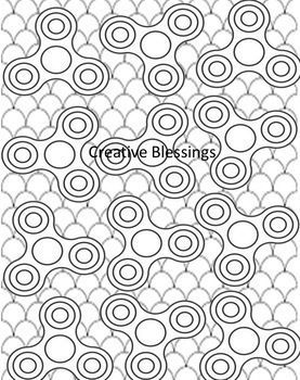Fidget Spinner Coloring Activity Handout Pages