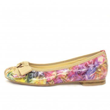 Idora Patent Pumps in Multi Coloured patent.  colourful shoes from Peter Kaiser on www.mozimo.co.uk  fashion ballet pumps
