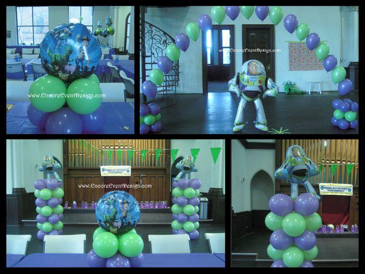 Balloon Decor. Birthday Party Decor Buzz Lightyear/Toy