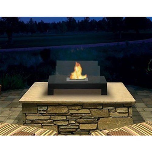 Gramercy indoor outdoor floor standing ethanol fireplace for Alcohol fire pit