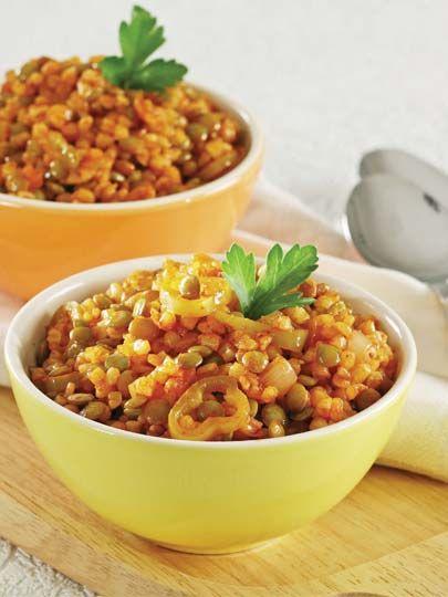 Mercimekli bulgur pilavı Tarifi - Türk Mutfağı Yemekleri - Yemek Tarifleri