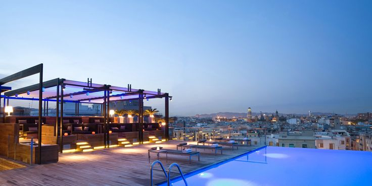17 best Rooftop Bar Restaurant images on Pinterest Rooftop bar - hotel barcelone avec piscine sur le toit