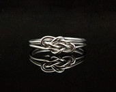 Infinity ring. Sterling Silver knot ring  Nautical ring Promise ring Purity ring sailor knot. $36,00, via Etsy.