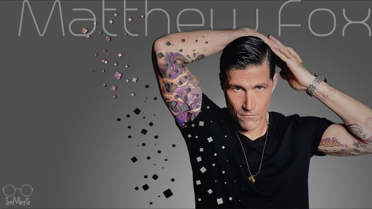 #matthewfox #matthew #fox #tattoo #wallpaper #gray #watch #tshirt #hairstyle #pixel #explosion #effect #gentleman #celebrity #poster