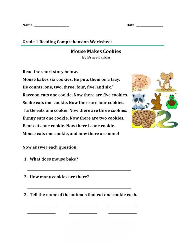 Printable Reading Comprehension Worksheets Best Coloring Pages