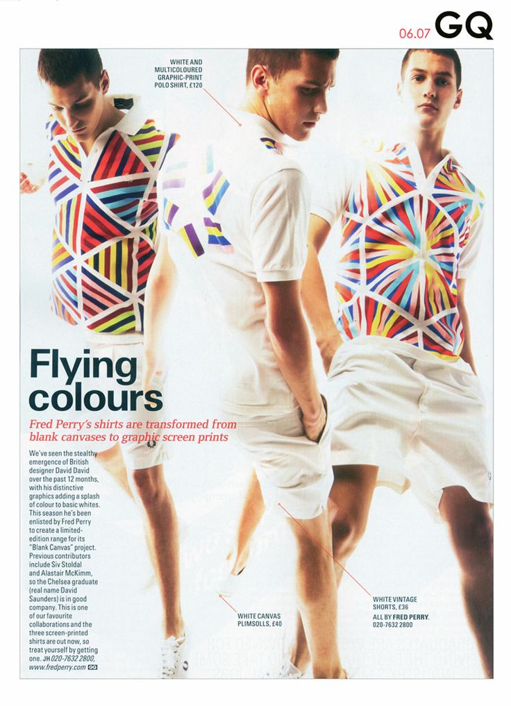 David David for Fred Perry's Blank Canvas