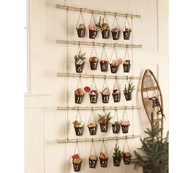 The Feminist Housewife: Pottery Barn Inspired: Advent Calender... Beautiful and easy!