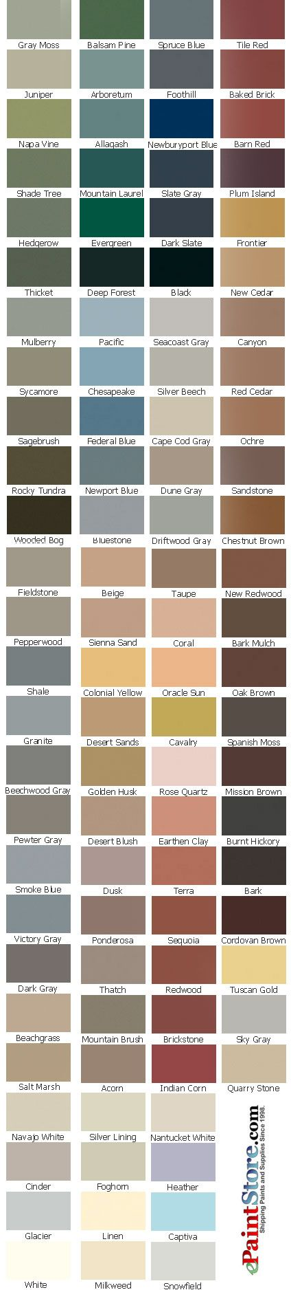 Exterior stain colors others beautiful home design - Cabot interior stain color chart ...