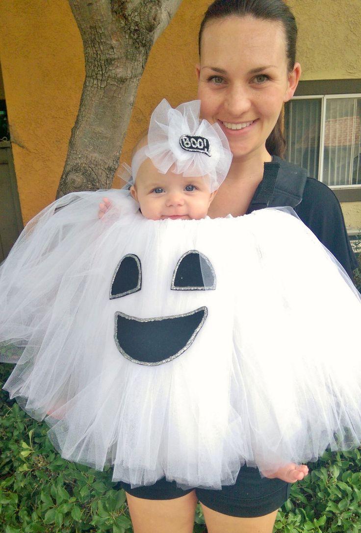 Cute DIY babywearing ghost costume!