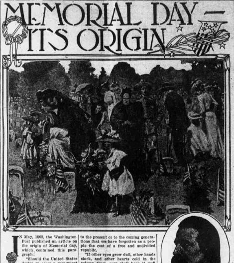 Origins of Memorial day - primary source