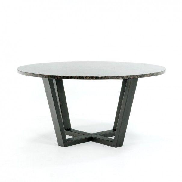 Runder Gartentisch Aus Granit Mit Stahlgestell Table Decor