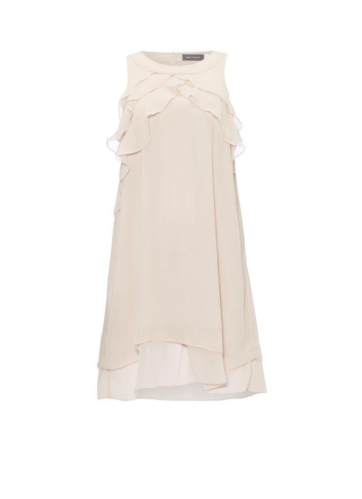 Mint Velvet Asymmetrische jurk met volants • de Bijenkorf