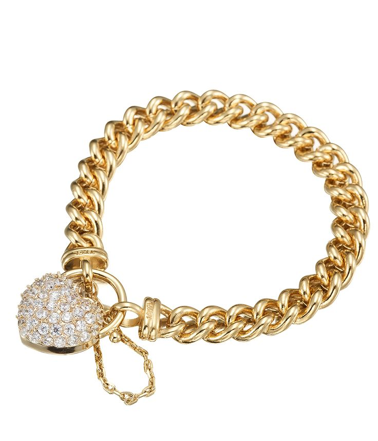 Simply Wow Heart Bracelet featuring Swarovski crystals - BRG0042 - $399 AUD
