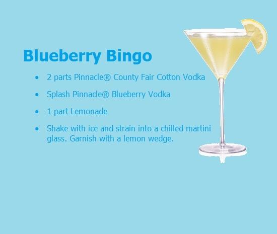 Blueberry Bingo Pinnacle Vodka Drink