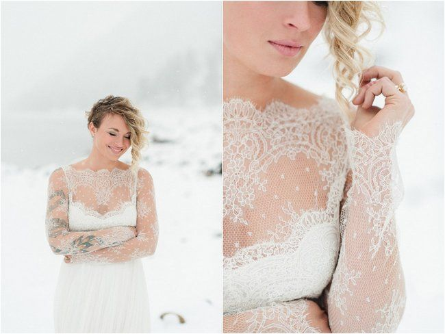 21 Ridiculously Stunning Long Sleeved Wedding Dresses Like this.