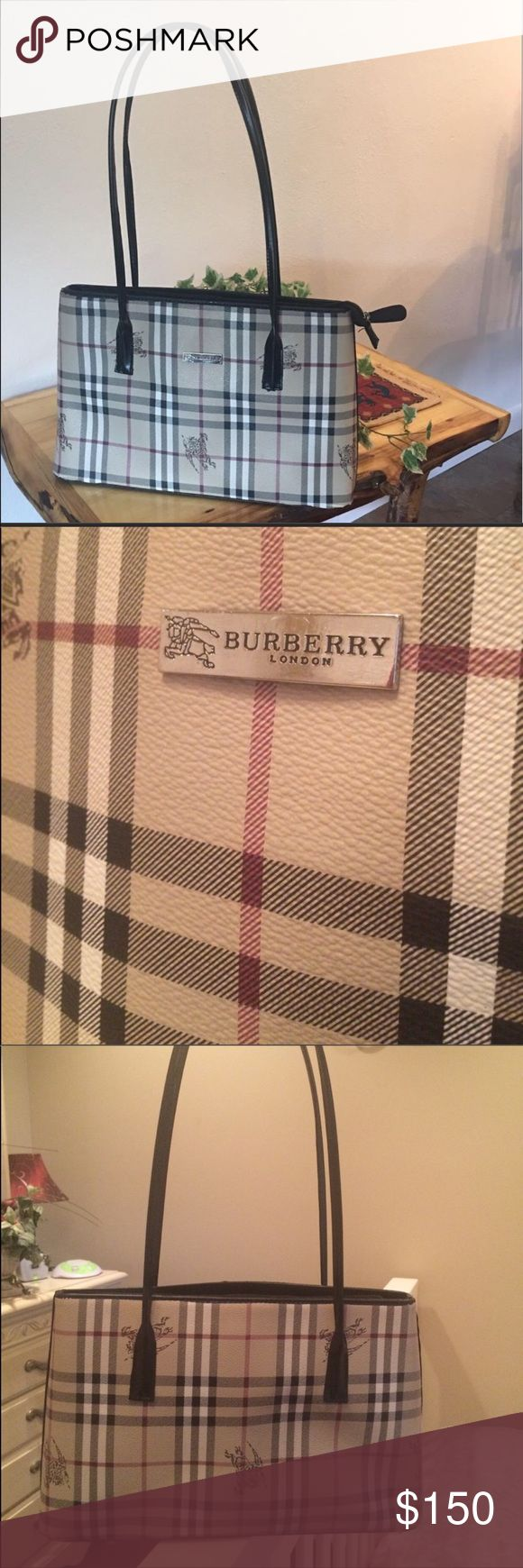 100% Authentic Used Burberry satchel This is a gorgeous everyday leather Burberry satchel. At a first glance it looks flawless, but it has some flaws as seen in the picture. Inside is very clean & it still has TONS of life! It is the medium size & fits tons of our everyday crap 😁😂 Priced to sell!! can sell lower on 🅿️🅿️ I will only trade for an apple watch or an authentic LV (a fair trade of course). Burberry Bags Satchels