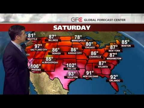 Friday's National Weather Forecast - sharing the #Weather Channel #Videos