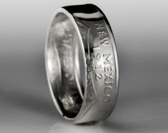 Silver State Quarter Ring .900 by TheRingTree on Etsy
