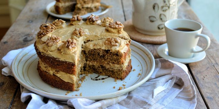 Coffee and walnut cake by Karen Burns-Booth