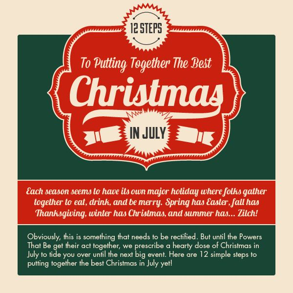 Christmas In July Party Ideas A 12 Step Guide
