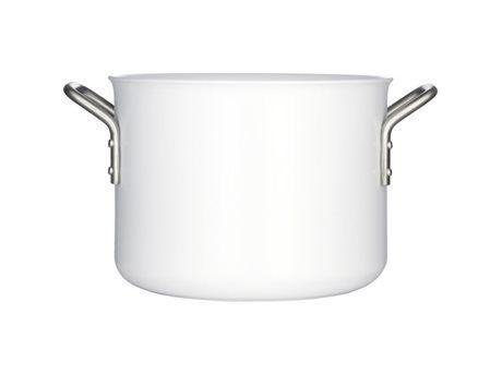 699,95 DKK.  Gryden er fremstillet af aluminium og har en hård keramisk belægning, der bevarer sin hvide farve uanset, hvilken form for madlavning, du praktiserer. En kraftig aluminium sikrer en perfekt varmefordeling og særdeles gode kogeegenskaber. White Line er en robust serie kogegrej med en 30 dages tilfredshedsgaranti. Til alle komfurtyper - også induktion. Gryden rummer op til 4,8 liter. Design: Ole Palsby.