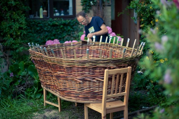 Basket Weaving With Willow Branches : Best images about baskets willow on