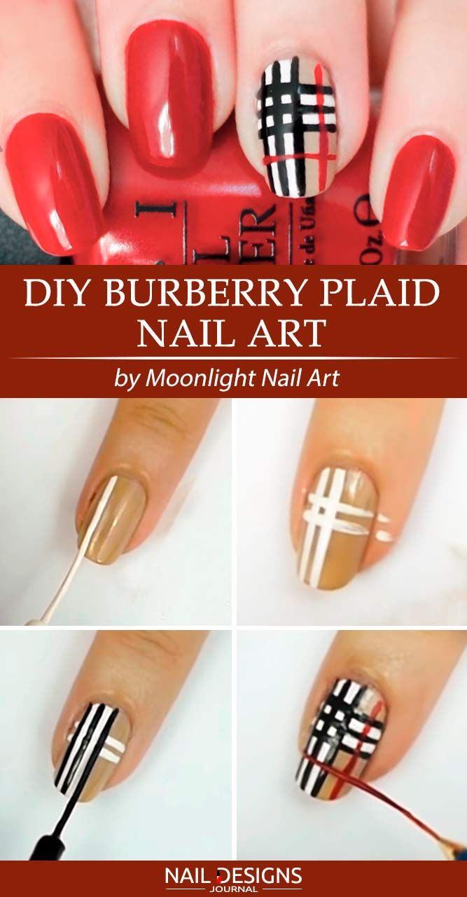 Chic Fall Nail Ideas To Fall In Love With Naildesignsjournal Com Plaid Nails Plaid Nail Art Burberry Nails
