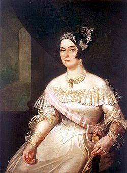 Domitila de Castro, Marchioness of Santos (1797 - 1867). Mistress of Pedro IV of Portugal. They had three children.