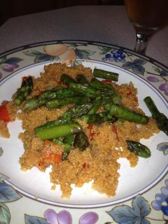 Heavenly Quinoa With Asparagus (Gluten-Free and Vegan)