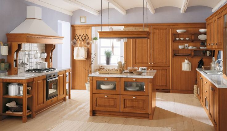 natural hickory kitchen cabinets with white counter tops - Google Search