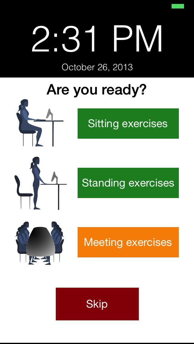 1 Minute Desk #Workout. 1 minute of exercises while sitting at your desk.  Get a reminder every hour during office hours. Relea…