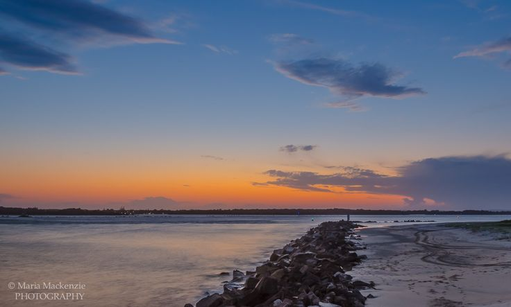 Sunset at Coast Guard overlooking the Clarence River in Iluka NSW.