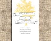 Printable Wedding Program - Tree Whimsy. $45.00, via Etsy.