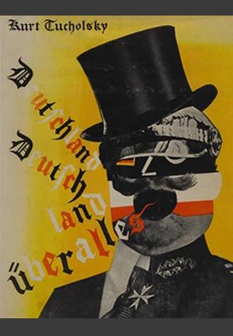 Kurt Tucholsky Book Jacket by German Dada Political Artist Heartfield