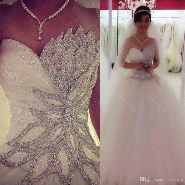 Cute  Sexy Princess Bling Bling Wedding Dresses Backless Lace Up Court Train Tulle A Line Corset