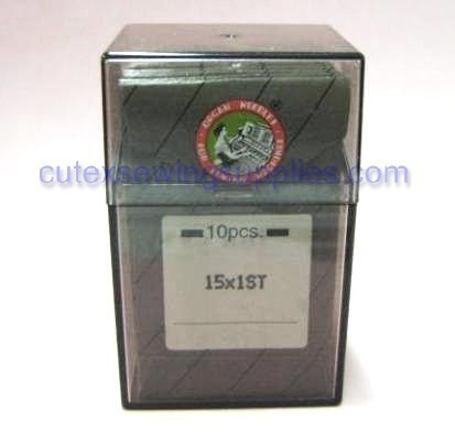 100 Large Eye 15X1ST Flat Shank Home Embroidery Needles