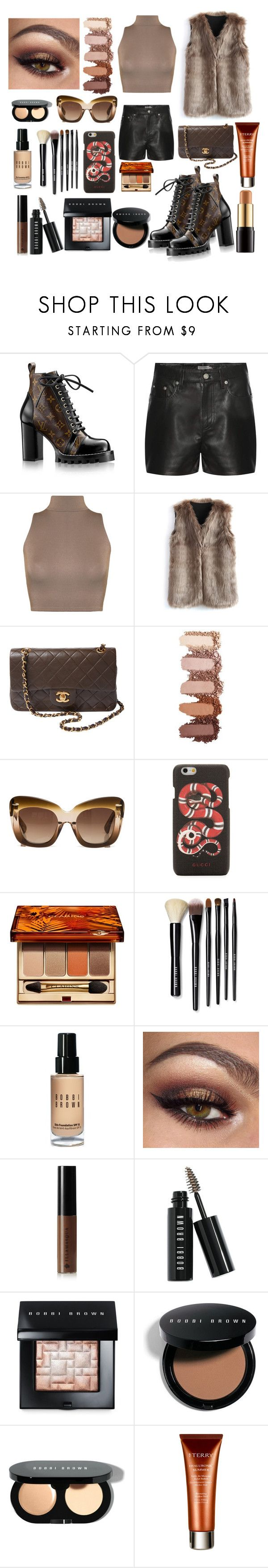 """""""Ms.Jones."""" by comerttaylan ❤ liked on Polyvore featuring Calvin Klein Jeans, WearAll, Chicwish, Chanel, Erdem, Gucci, Clarins, Bobbi Brown Cosmetics, Illamasqua and By Terry"""