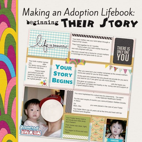Making an Adoption Life Book - Beginning Their Story   #adoption #scrapbooking #pagelayout