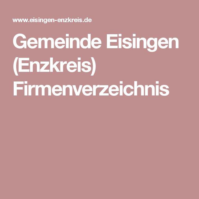 Gemeinde Eisingen (Enzkreis) Firmenverzeichnis