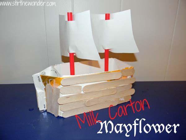 Milk Carton Mayflower | Stir the Wonder #kbn #Thanksgiving