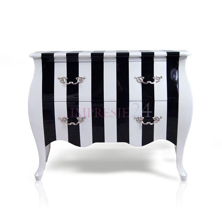 Zachwycająca komoda w stylu barokowym | Delightful commode in baroque style! #komoda #barok #styl #meble #czarny #commode #furniture #black #white #beautiful #stylish
