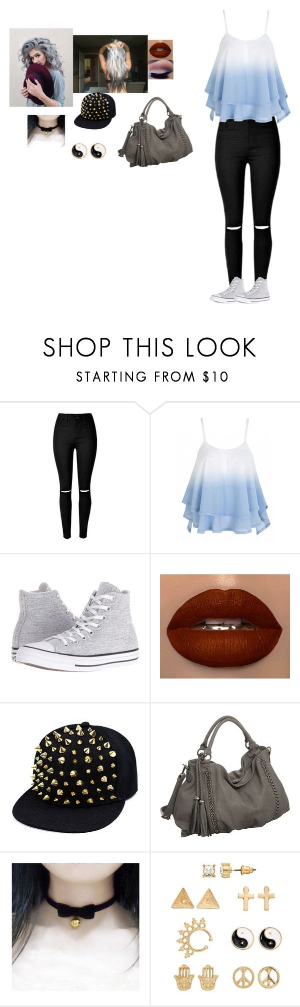 """Untitled #964"" by septicplier-mangle ❤ liked on Polyvore featuring Converse, Melie Bianco, COS and Mudd"